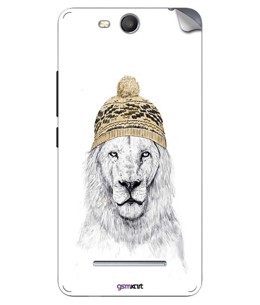 Gsmkart Mobile Sticker For Micromax Canvas Juice 3-Golden