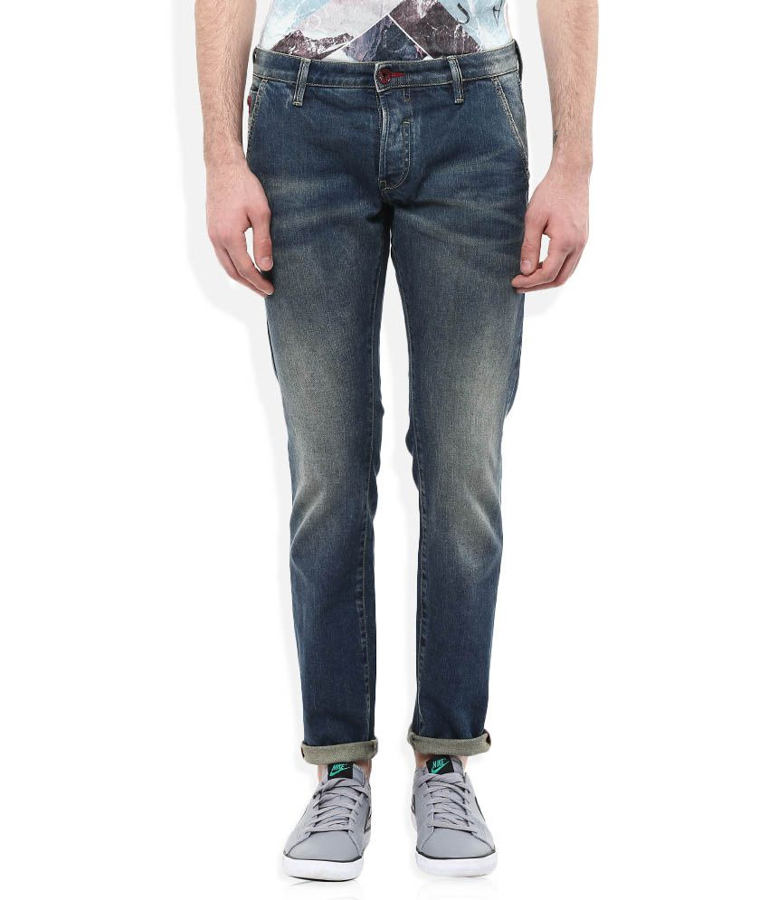 GAS Blue New Albert Chino Slim Fit Jeans