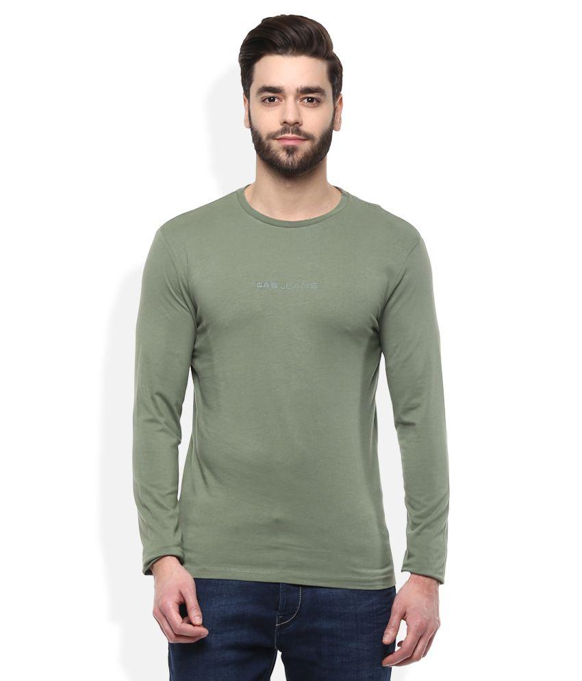GAS Green Printed T-Shirt