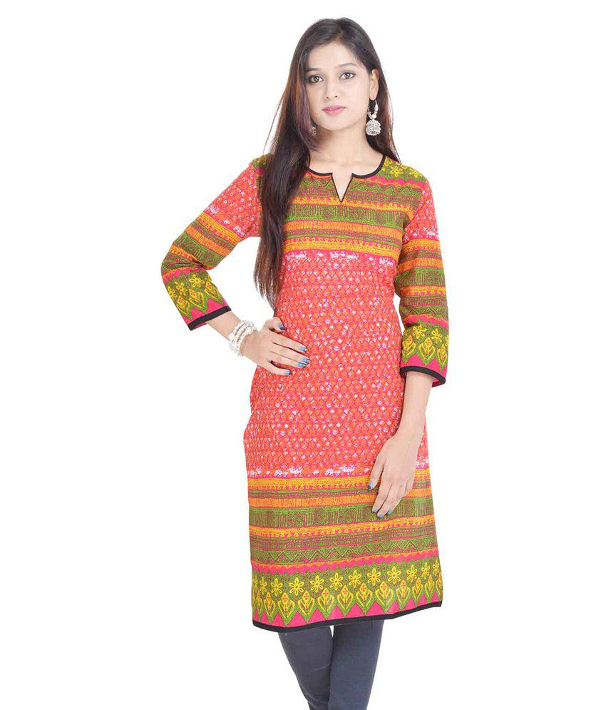 Rajlaxmi Multi Color Cotton Straight Kurti