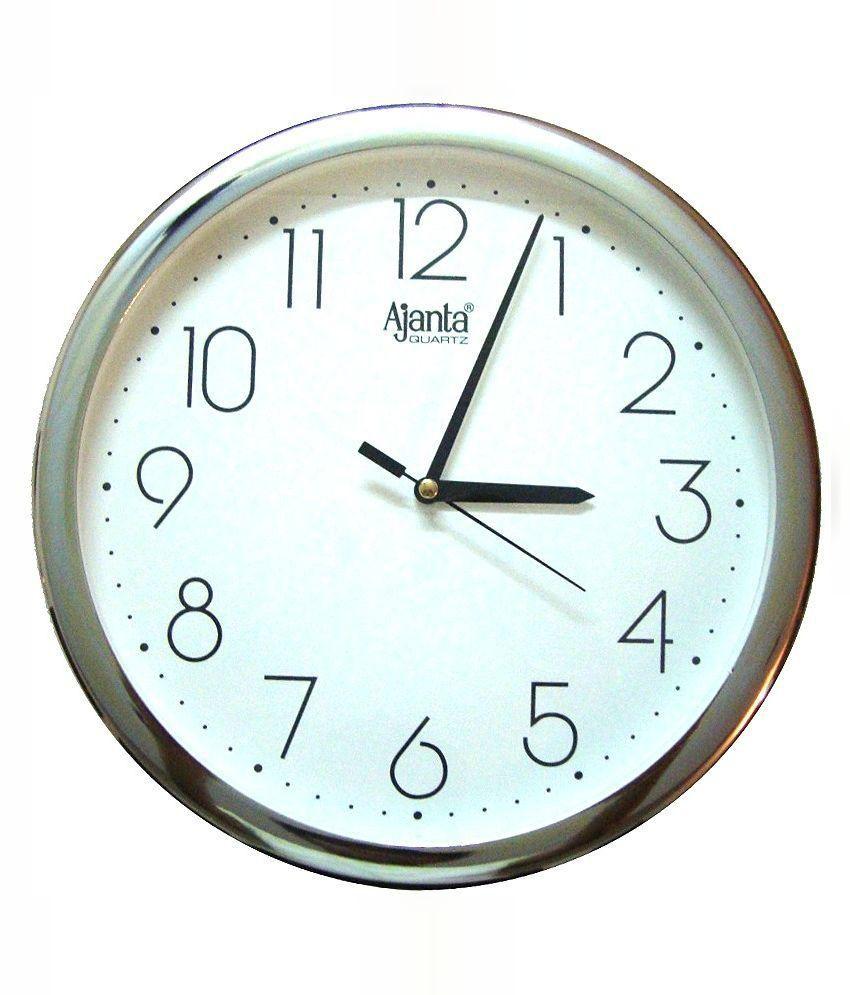 Ajanta quartz silver ring plastic wall clock buy ajanta quartz ajanta quartz silver ring plastic wall clock amipublicfo Images