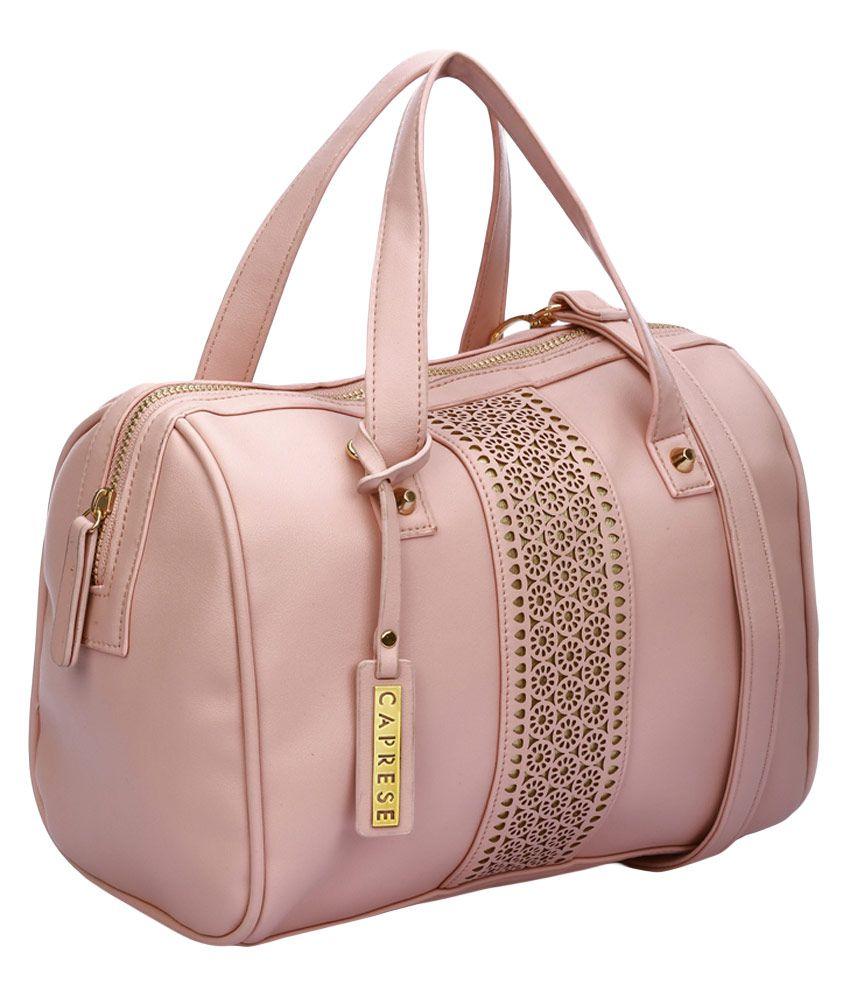 Caprese Sienna Pink Satchel Bag