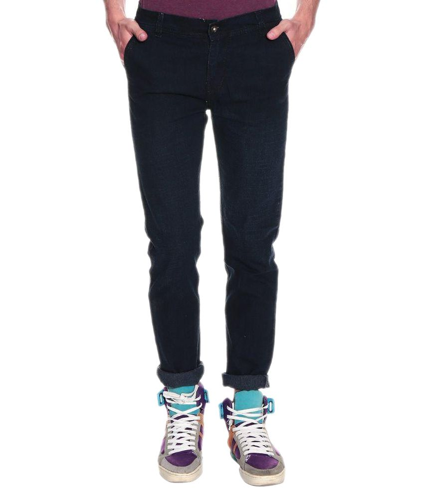 Fashion Deck Black Slim Fit Faded Jeans