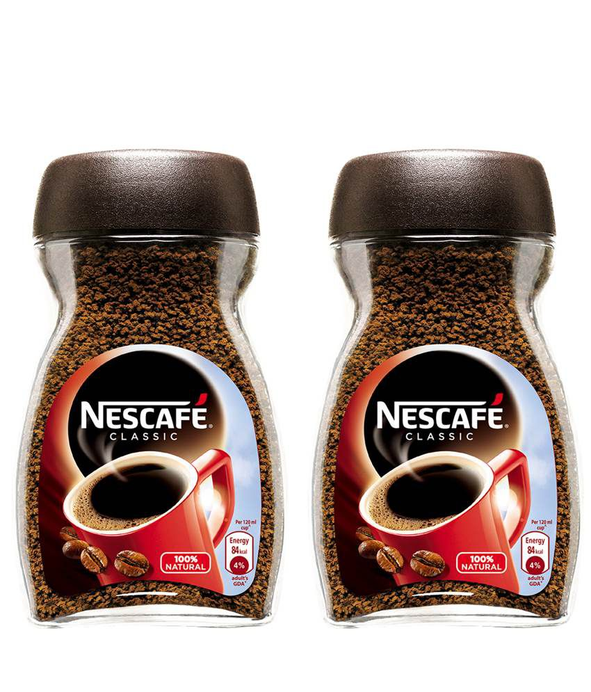 NESCAFE Classic Coffee Glass Jar 50g - Pack of 2