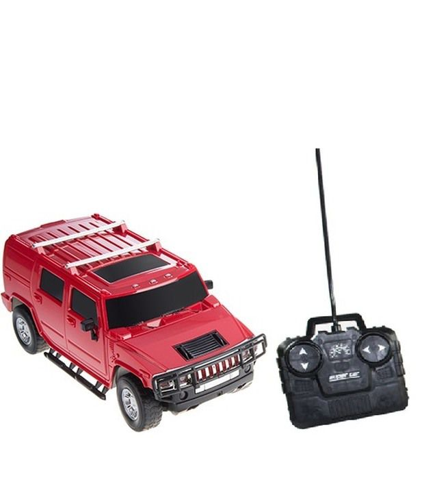 ToysBuggy Hummer Shaped Remote Controlled Car SUV Red