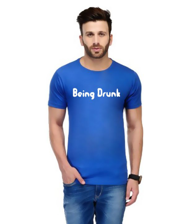 Andshand Blue Round T Shirts