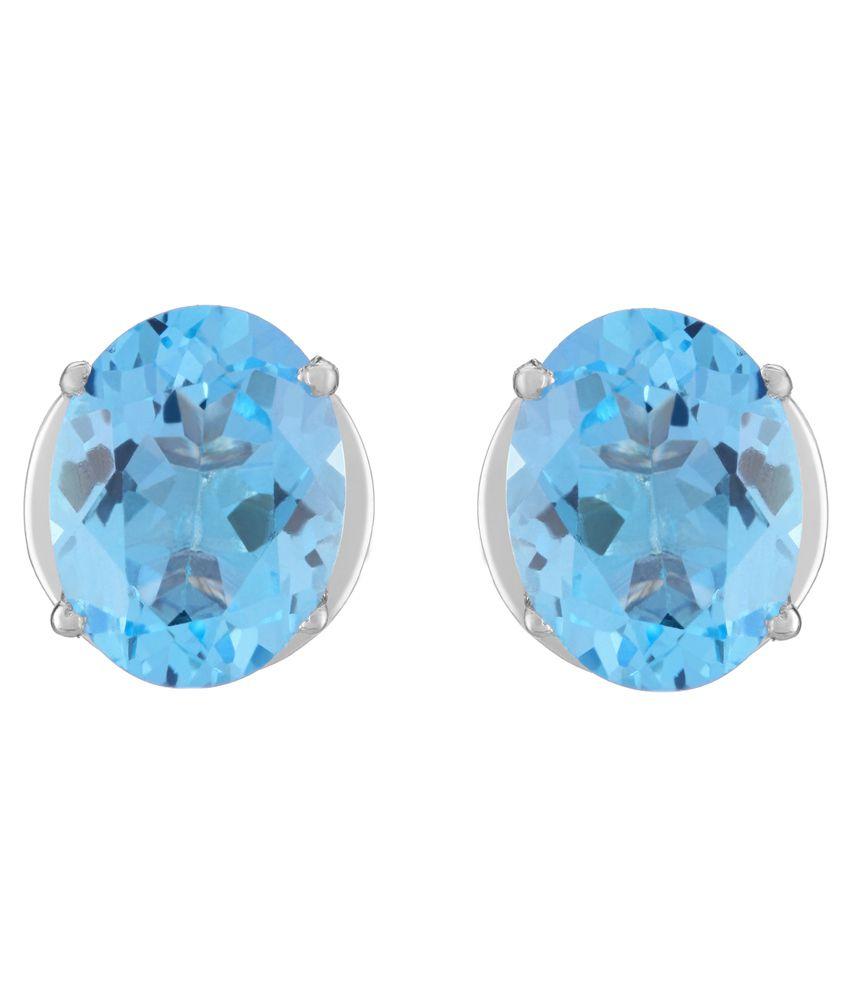 Gemsouk 92.5 Sterling Silver Stud Earrings