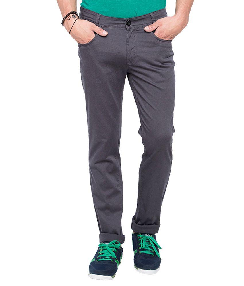 Mufti Grey Slim Fit Trousers