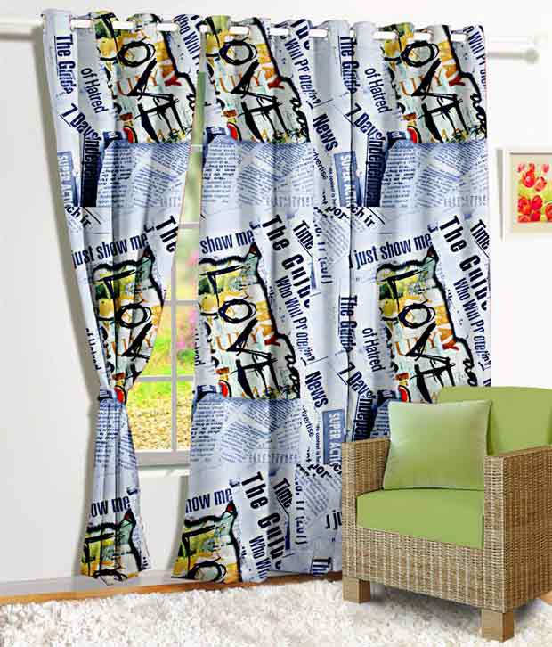 Story@Home Single Window Eyelet Curtain Abstract