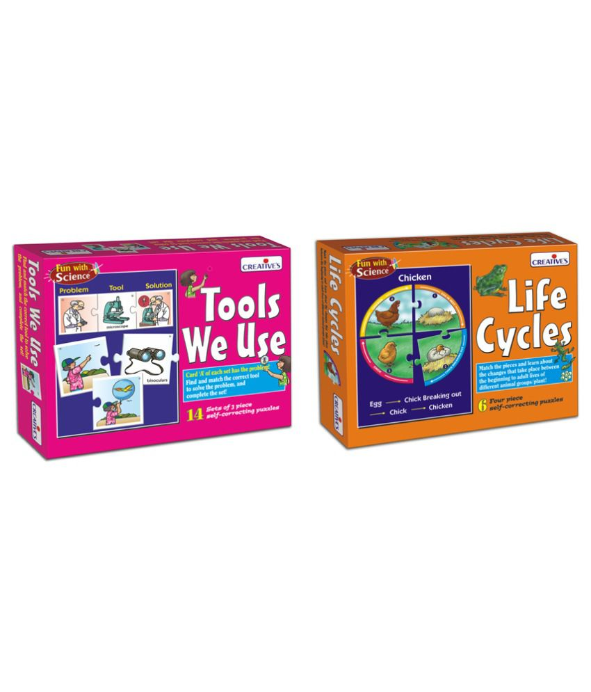 Creatives Creative's Tools We Use and Life Cycle Educational Game Combo