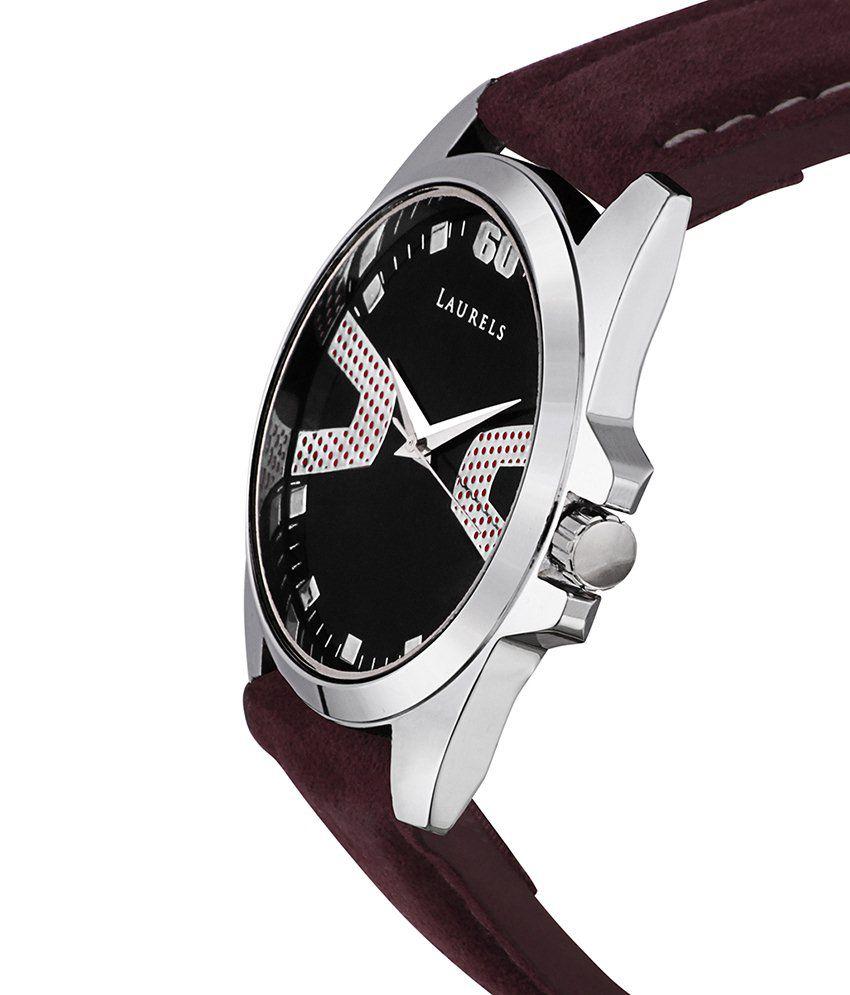 Laurels Brown Leather Wrist Watch For Men - Buy Laurels ...