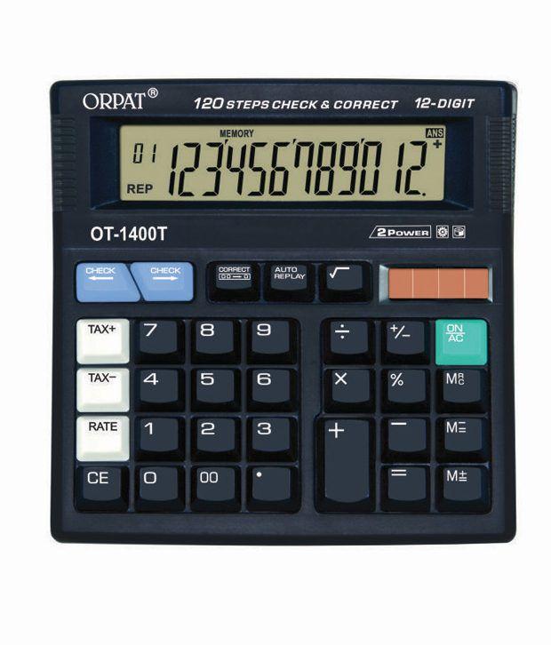 Orpat Ot-1400t Check & Correct Calculator