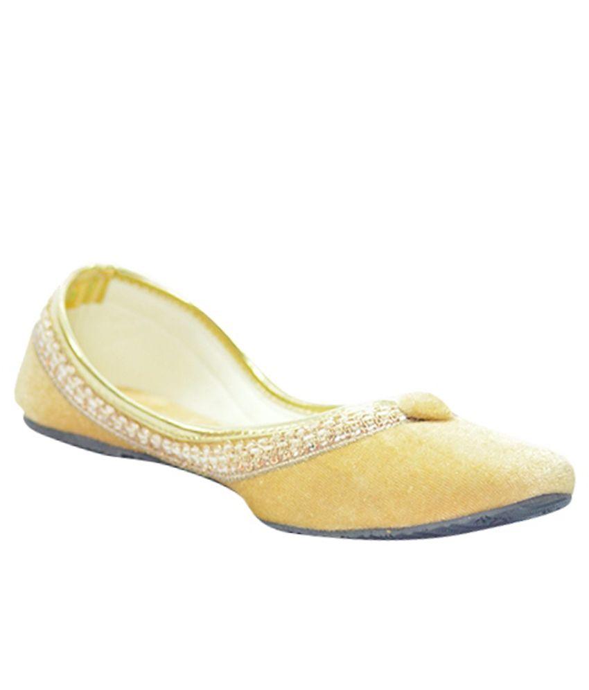 Instylo Yellow Ethnic Footwear