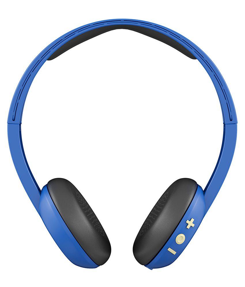 Skullcandy S5URJW-546 On Ear Wireless Headphone With Mic Blue