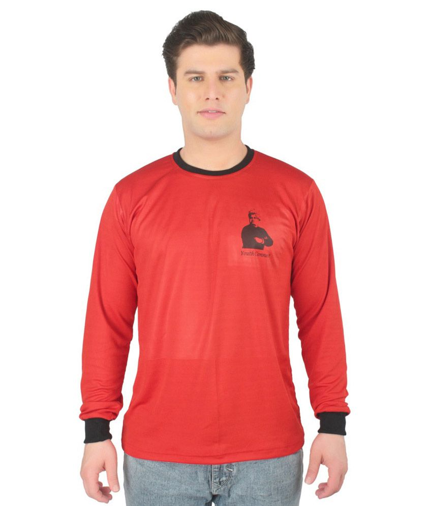 Vivekananda Youth Connect Red Round T Shirts