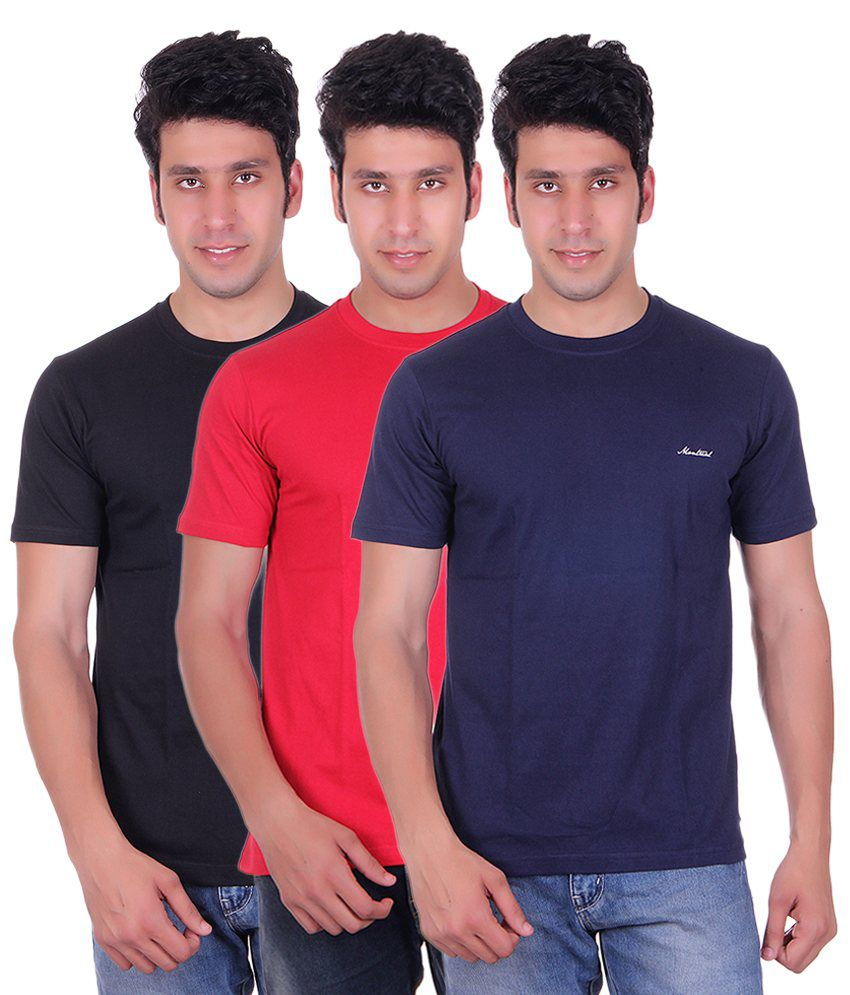 Montreal Multi Round T Shirts Pack Of 3