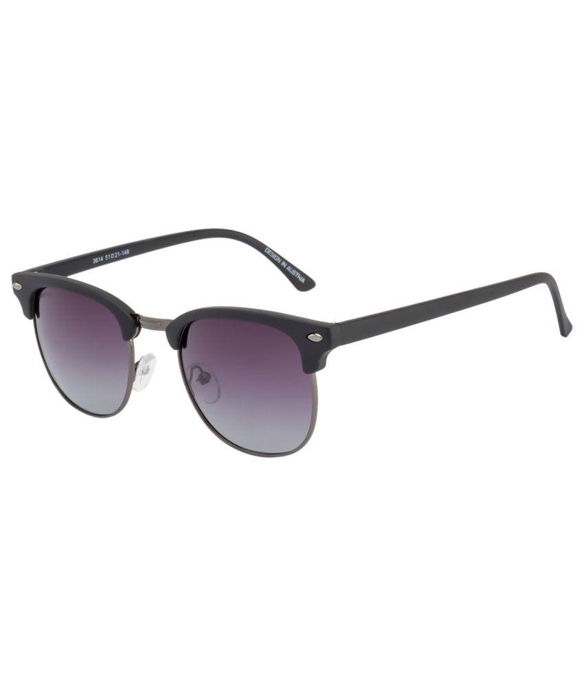 O Positive Black Clubmaster Sunglasses