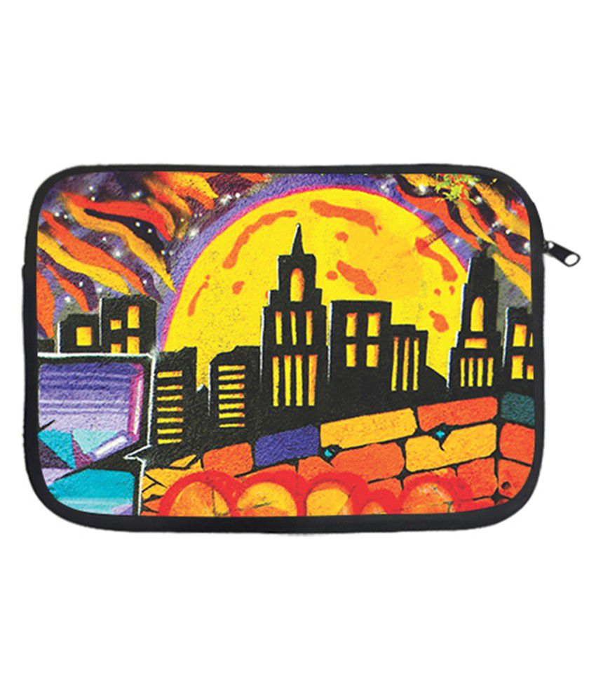 Via Flowers Polyester Laptop Sleeve Hut 13 Inch - Multicolor