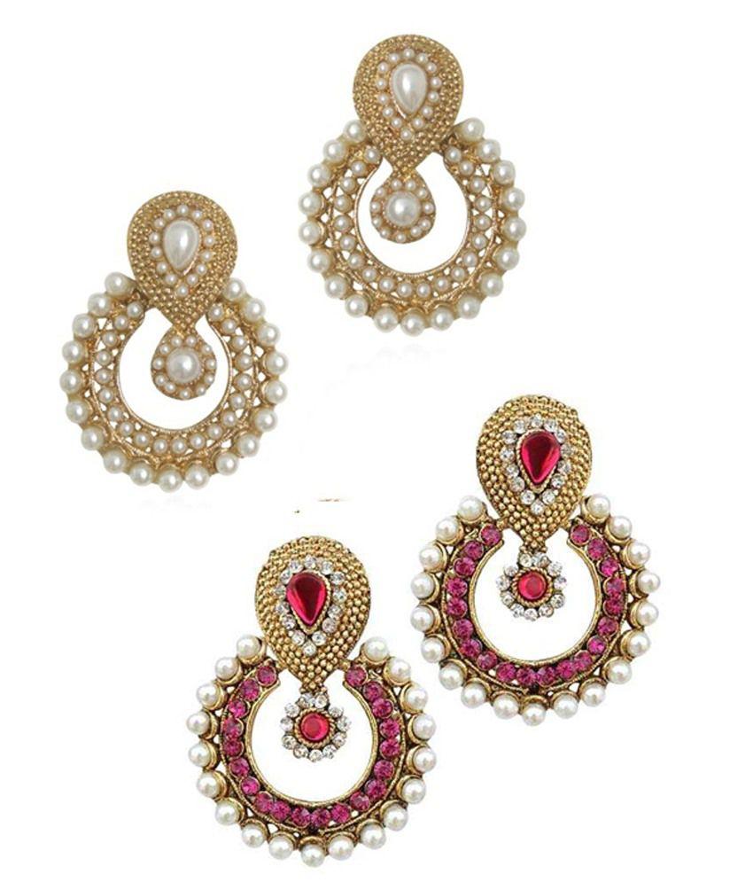 Codice Multicolour Alloy Drop Earrings Set Of 2
