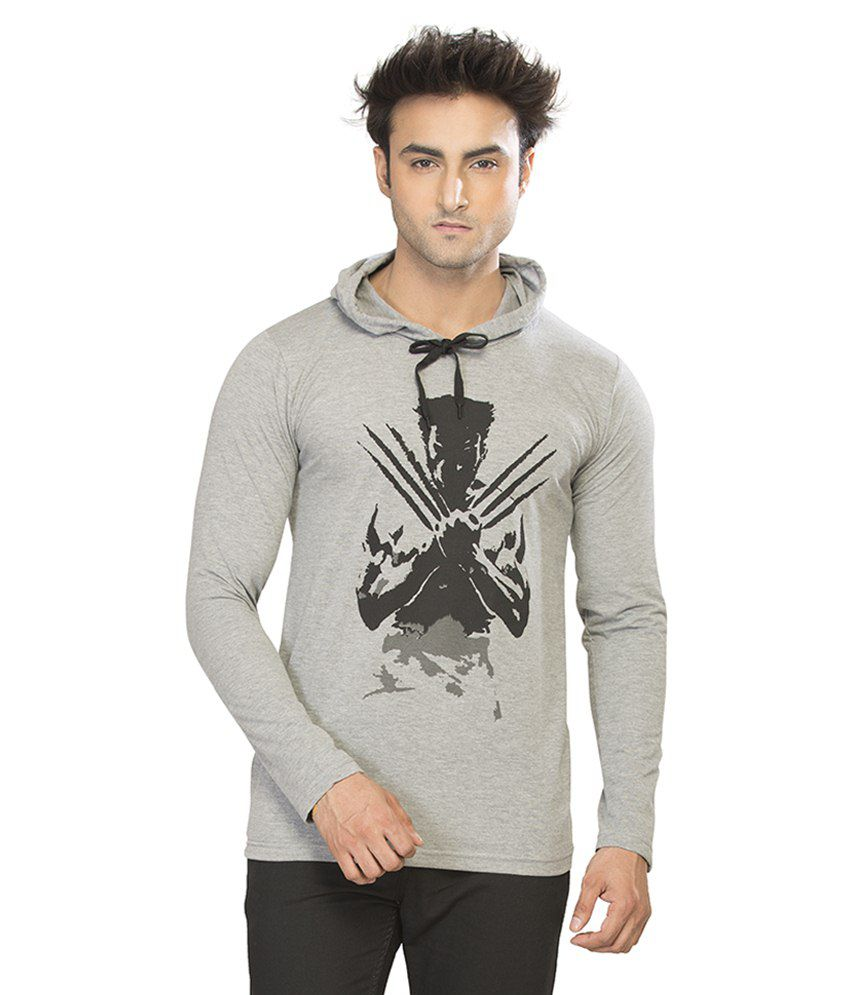 Alan Jones Clothing Grey Hooded T Shirts