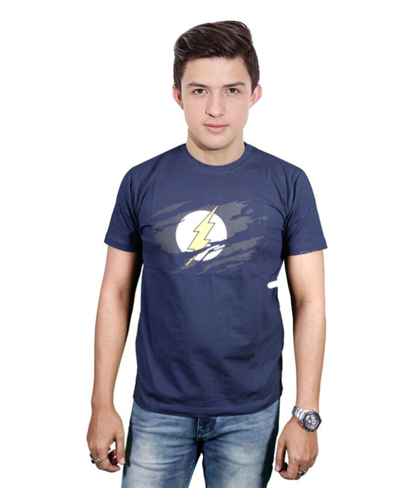 FYDA Printed Navy Round T Shirts