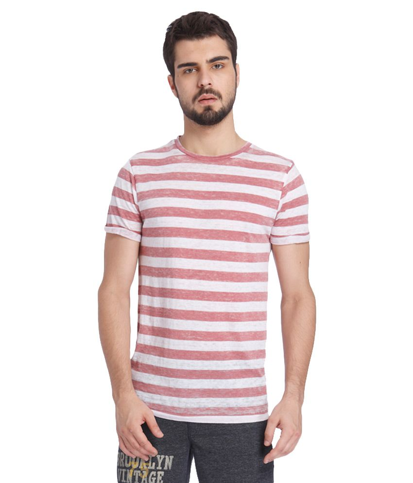 to buy best sale fashion style Jack & Jones Pink T-Shirt Price in India | Buy Jack & Jones ...