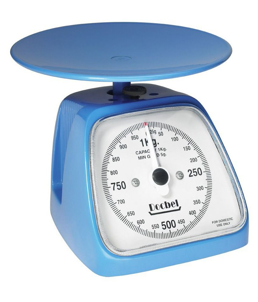 Docbel-braun Docbel-05 Blue Plastic 1 Kg Kitchen Weighing Scale: Buy ...