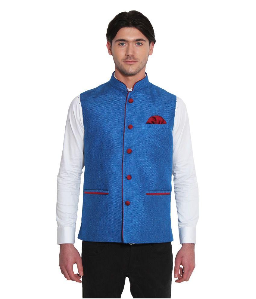 Favoroski Blue festive Waistcoats