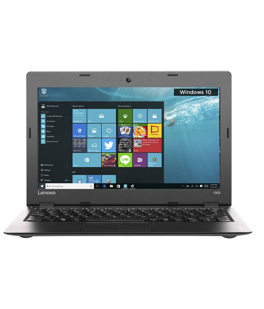 Lenovo Ideapad 100S-11IBY Notebook (80R200AVIH) (Intel Atom- 2GB RAM- 32GB  eMMC- 29 46 cm (11 6)- Windows 10) (Silver)