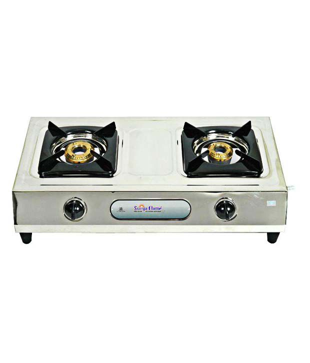 Surya Flame ECO DELUX Gas Cooktop (2 Burner)