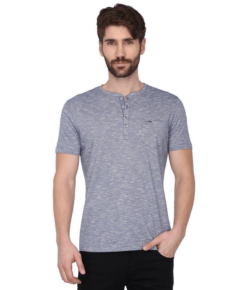 Wrangler Grey Henley T Shirts
