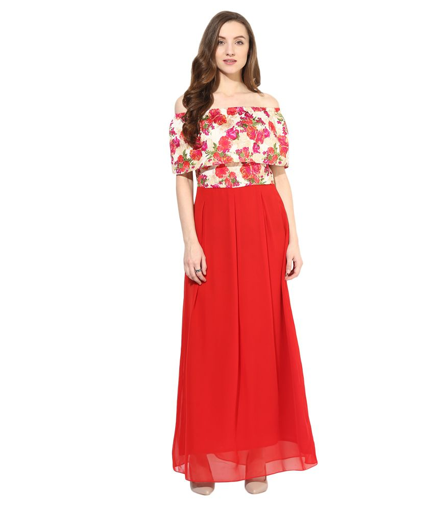 d787fbf1f6f Athena Red Silk Maxi Dress - Buy Athena Red Silk Maxi Dress Online at Best  Prices in India on Snapdeal