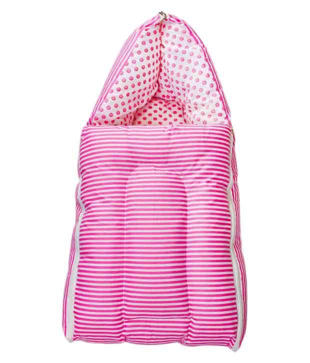 Zura Pink Cotton 3 In 1 Baby Sleeping Bag