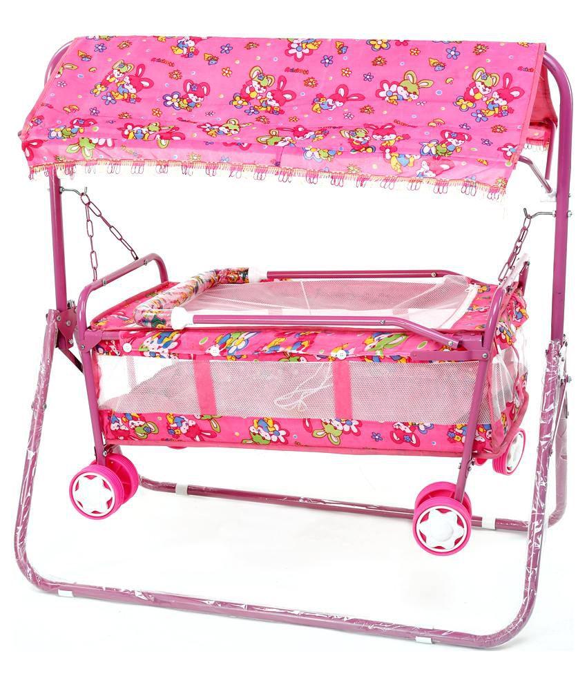 Janda Pink Jhula Cum Pram Buy Janda Pink Jhula Cum Pram