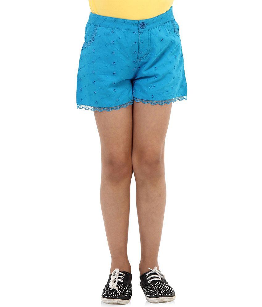 Oxolloxo Blue Cotton Shorts