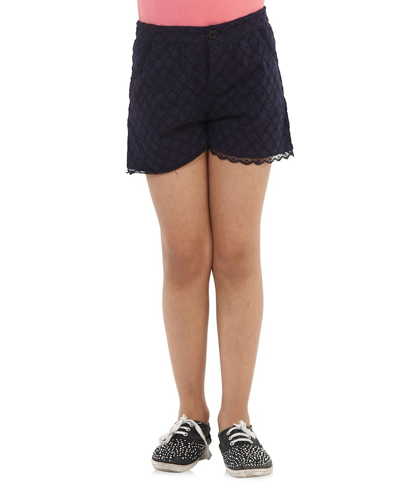 Oxolloxo Navy Cotton Shorts