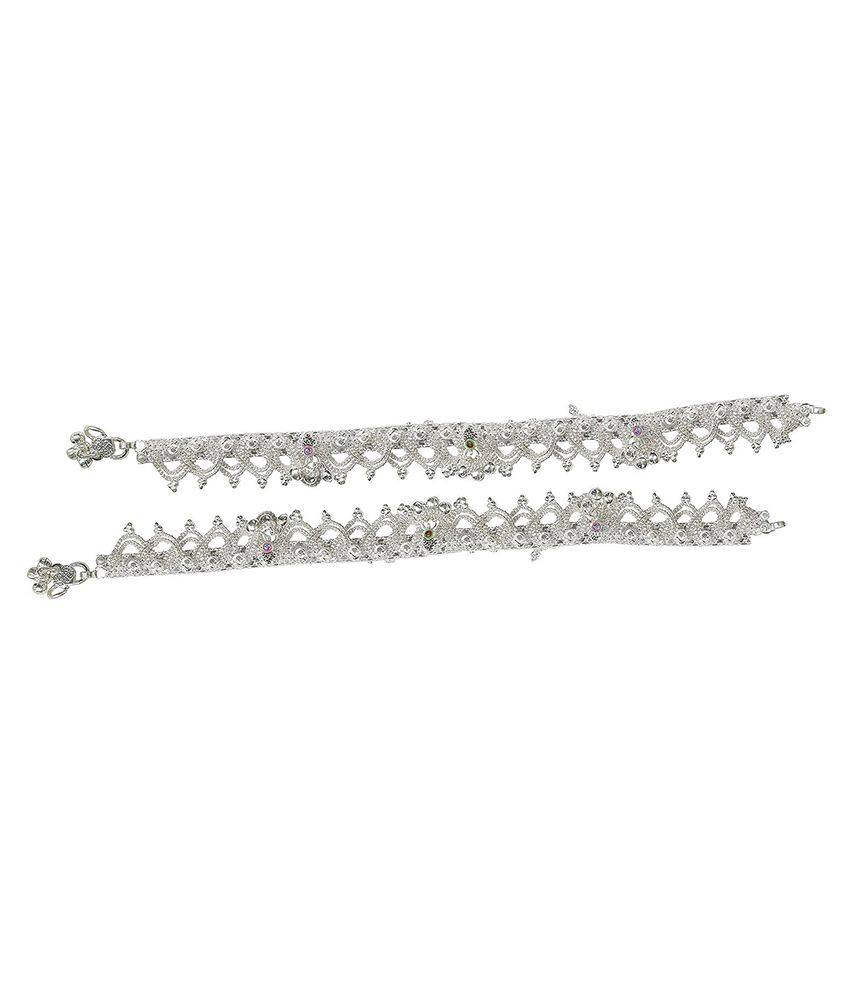 Adneo Silver Pair Of Anklets