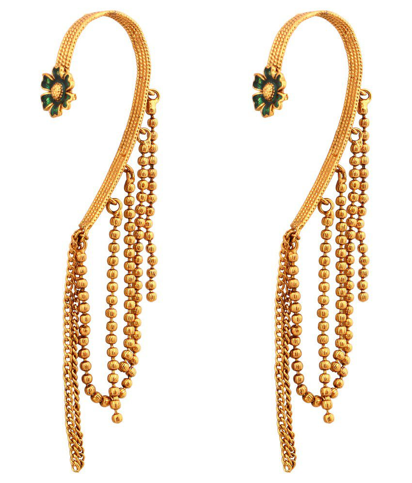 Inaya Golden Copper Ear Cuffs
