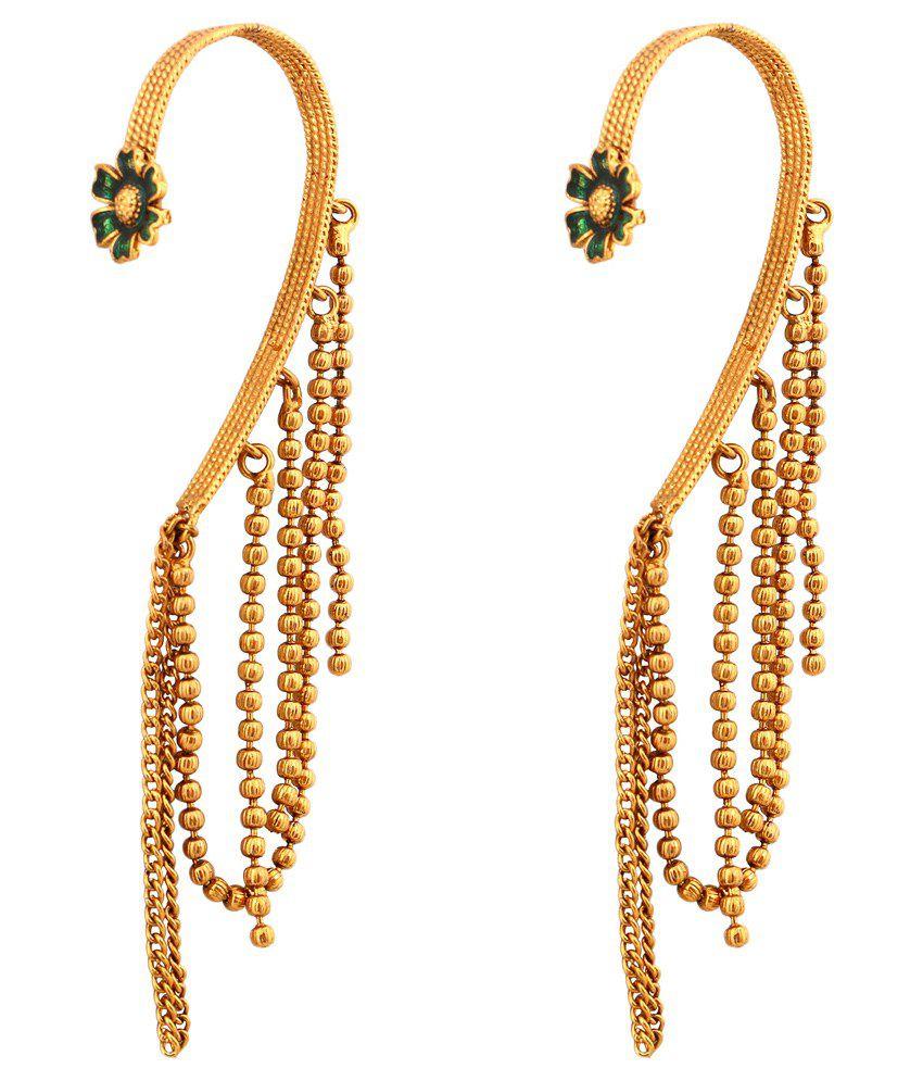 Inaya Golden Copper Ear Cuffs