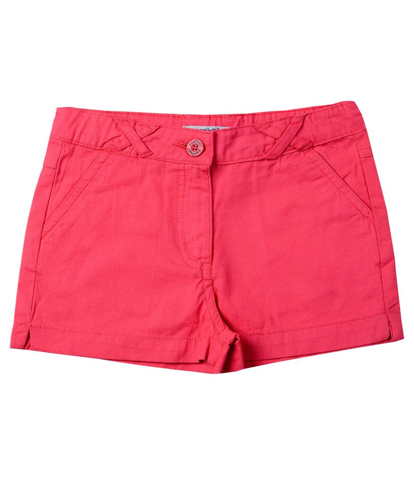 Nauti Nati Pink Cotton Shorts