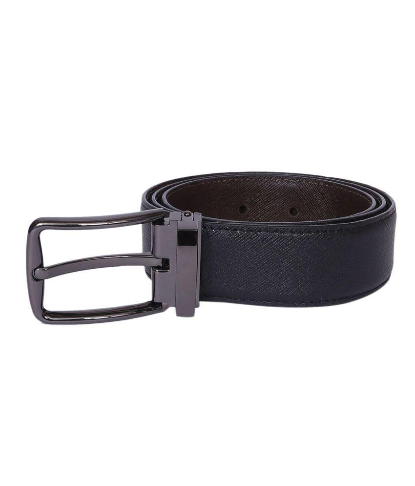 Risa Black Leather Formal Belt for Men