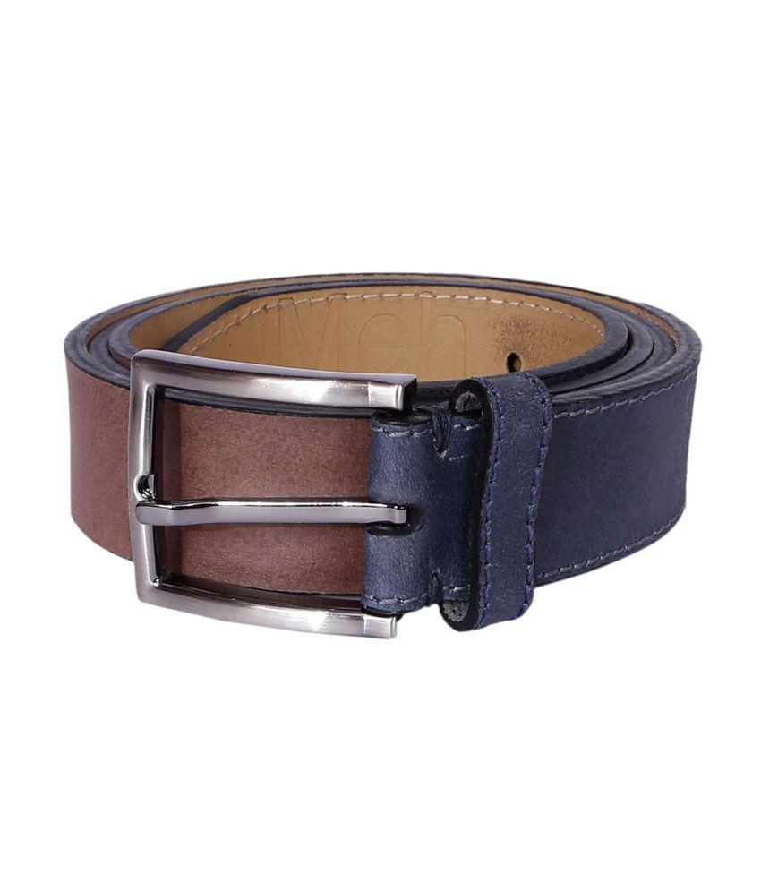 Risa Brown Leather Formal Belt for Men