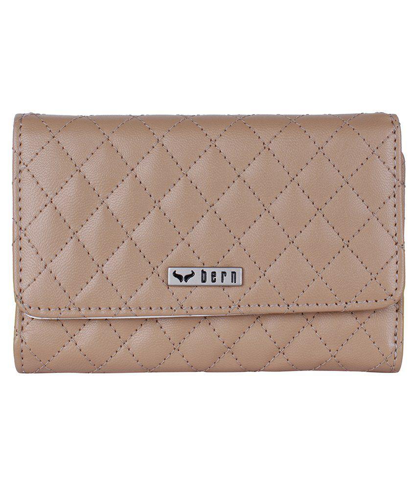 Bern Beige Formal Wallet For Women