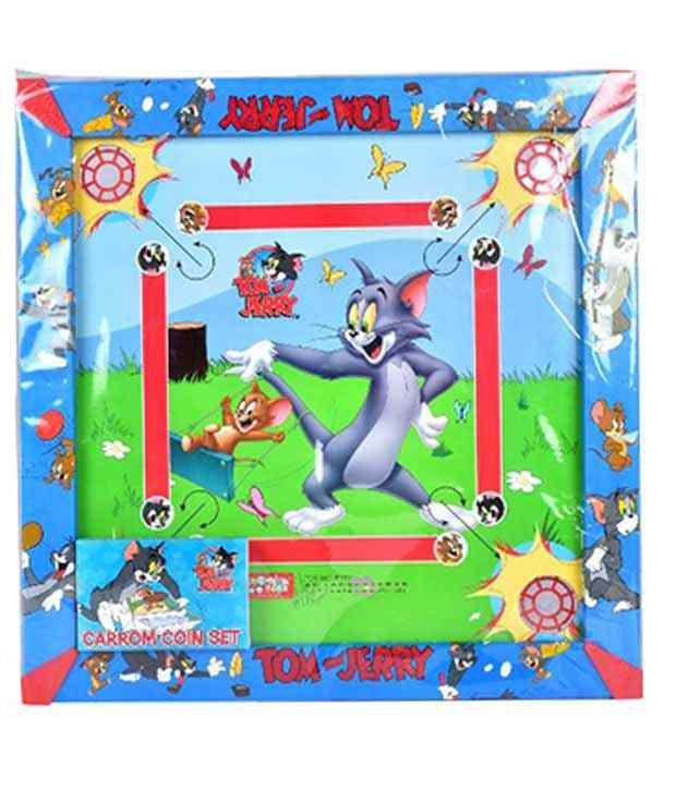Tom And Jerry Multicolour 2-In-1 Carrom board