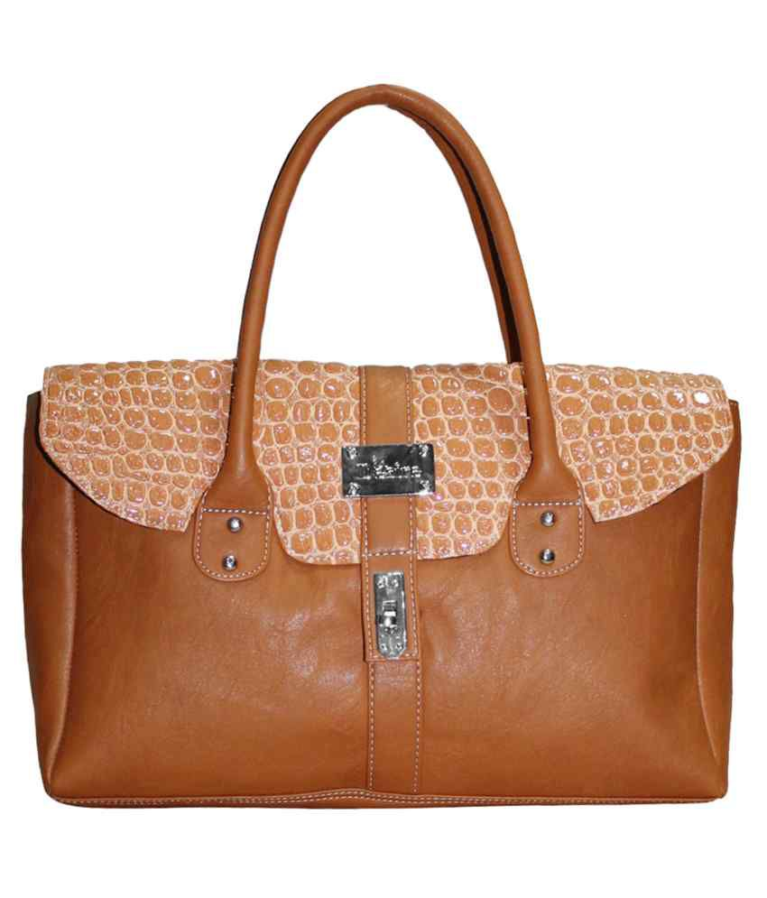 Moda Desire Tan P.U. Shoulder Bag