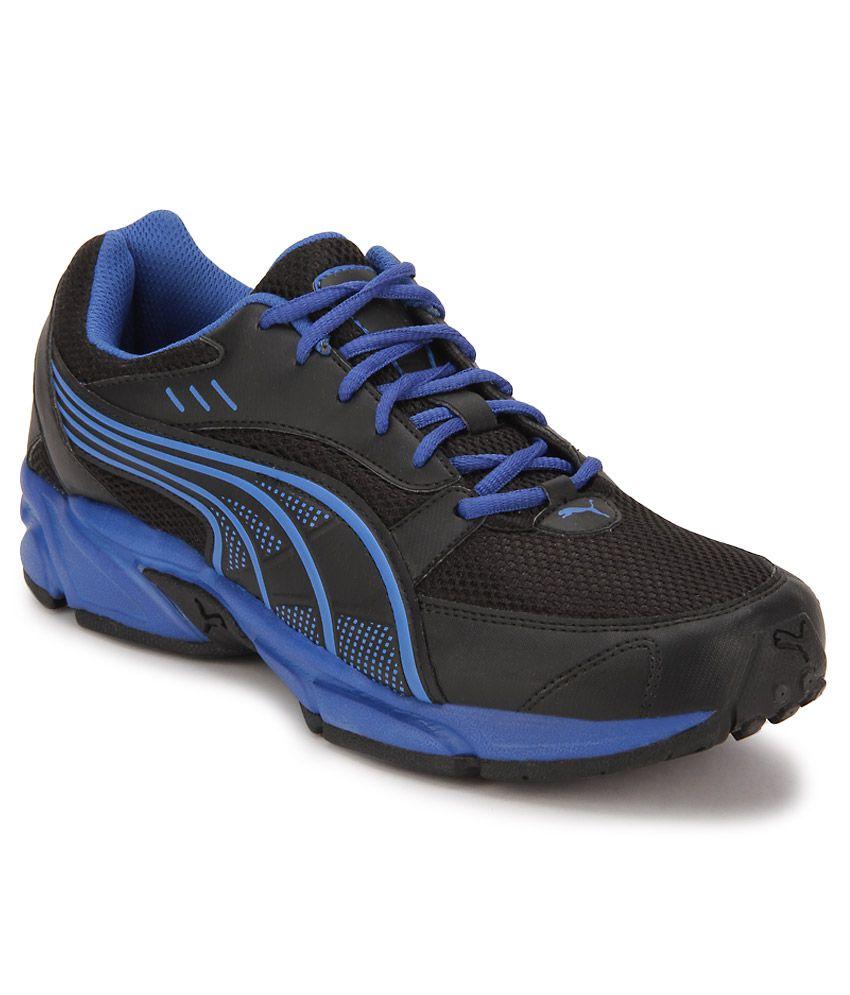 Puma Pluto DP Black Running Sports Shoes