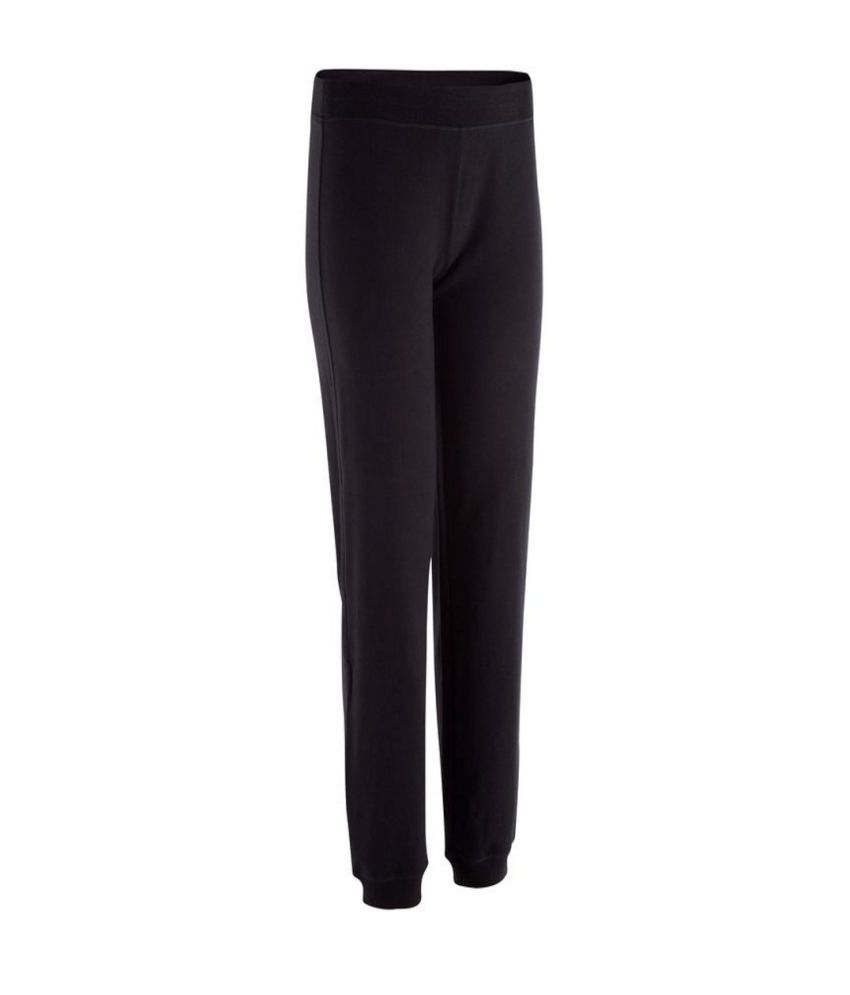 DOMYOS Bb Reg Rib Fit Women's Strength Training Trousers By Decathlon