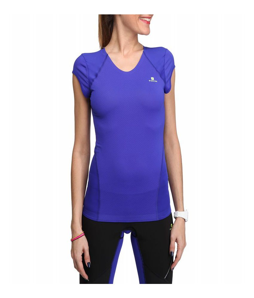 DOMYOS Breathe Booster Women's Cardio T-Shirt By Decathlon