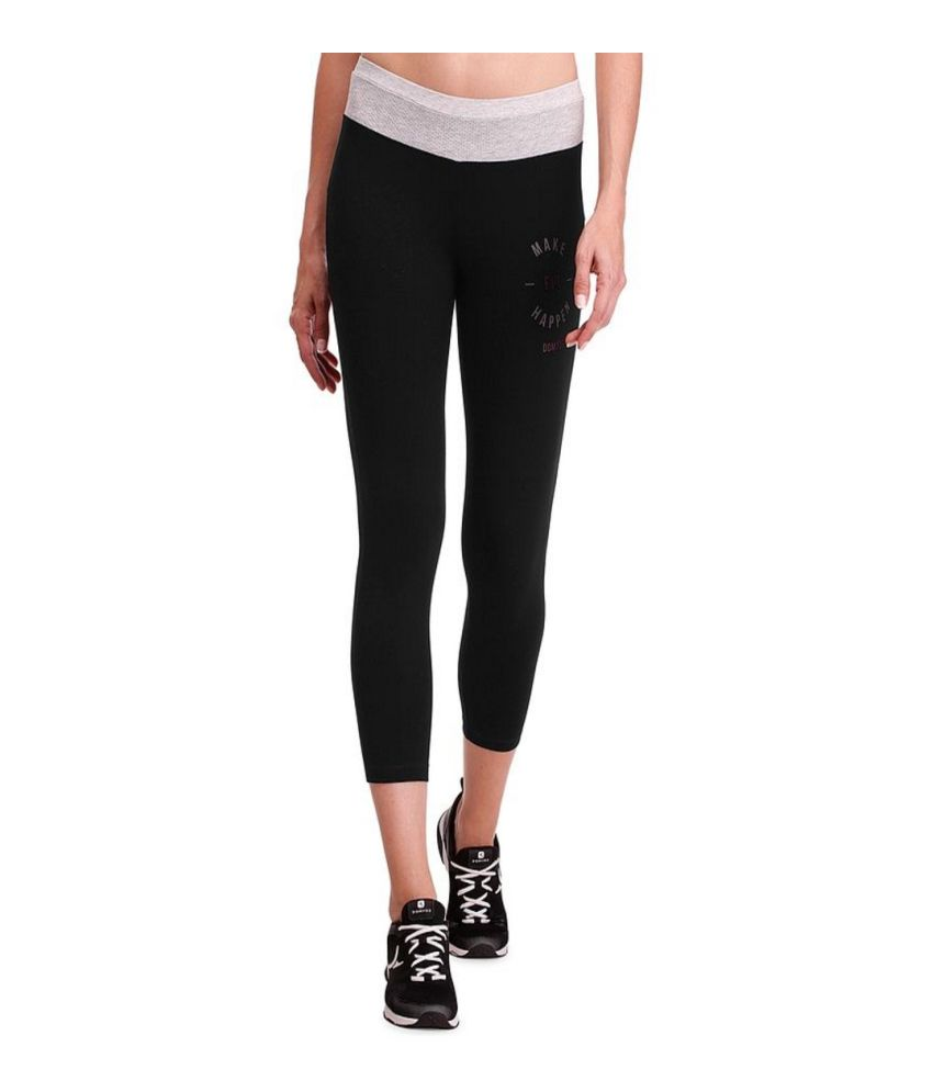 DOMYOS Bt Slim 7/8 Team Ah15 Women's Strength Training Leggings By Decathlon