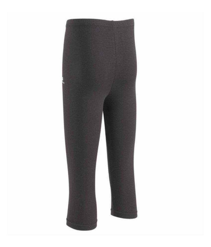 DOMYOS Comfort Plus Girls Fitness Cropped Leggings By Decathlon